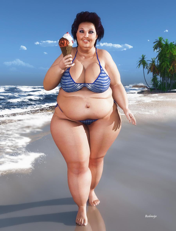 Эротика толстые на пляже162