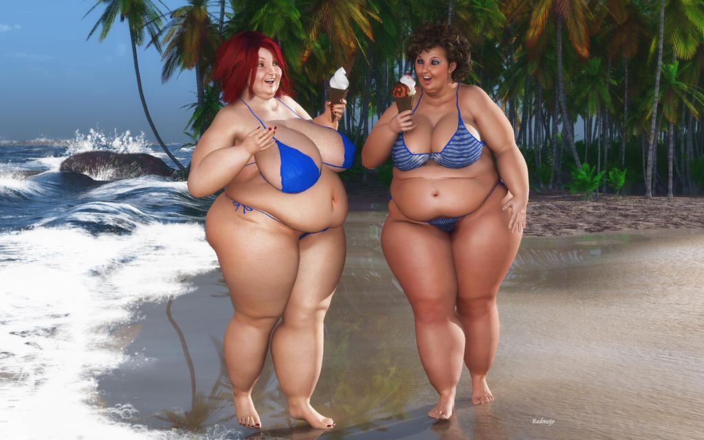 bbw beach and ice cream 2 by rendermojo on deviantart