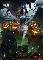 Snowwhiteandsevenpumpkins by GothicQ