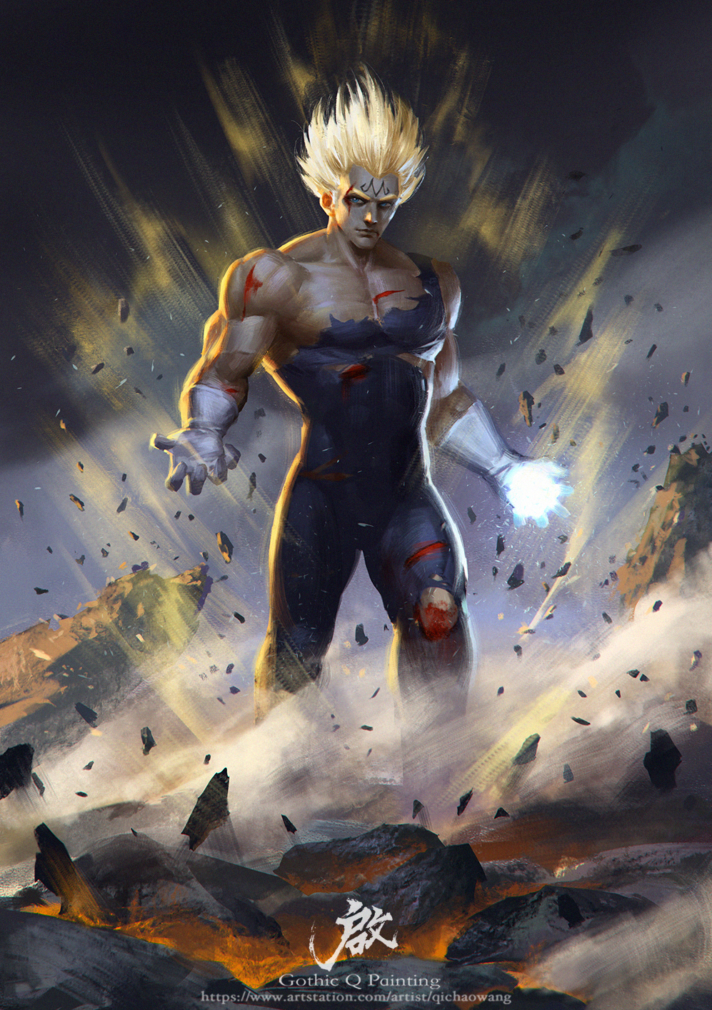 Vegeta by gothicq on deviantart - 3d wallpaper of dragon ball z ...