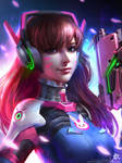 OVERWATCH D.VA by GothicQ