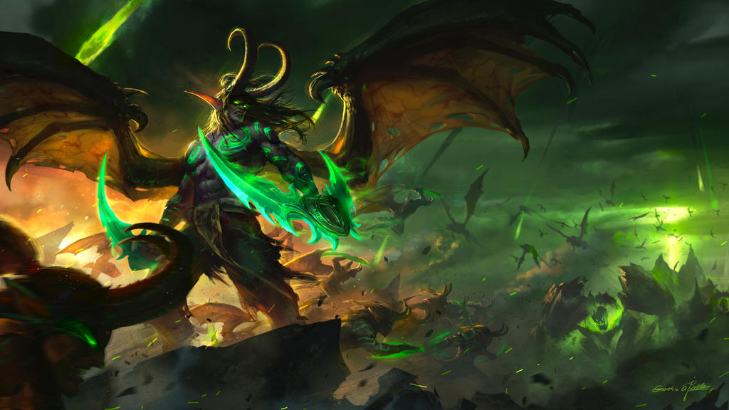 Illidan Stormrage by GothicQ on DeviantArt