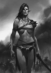 Orc lady by GothicQ