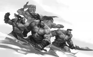 Fighting Orcs