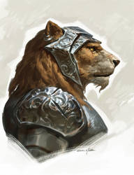 Lion Knight by GothicQ