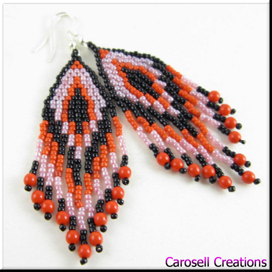 how to make native american seed bead earrings