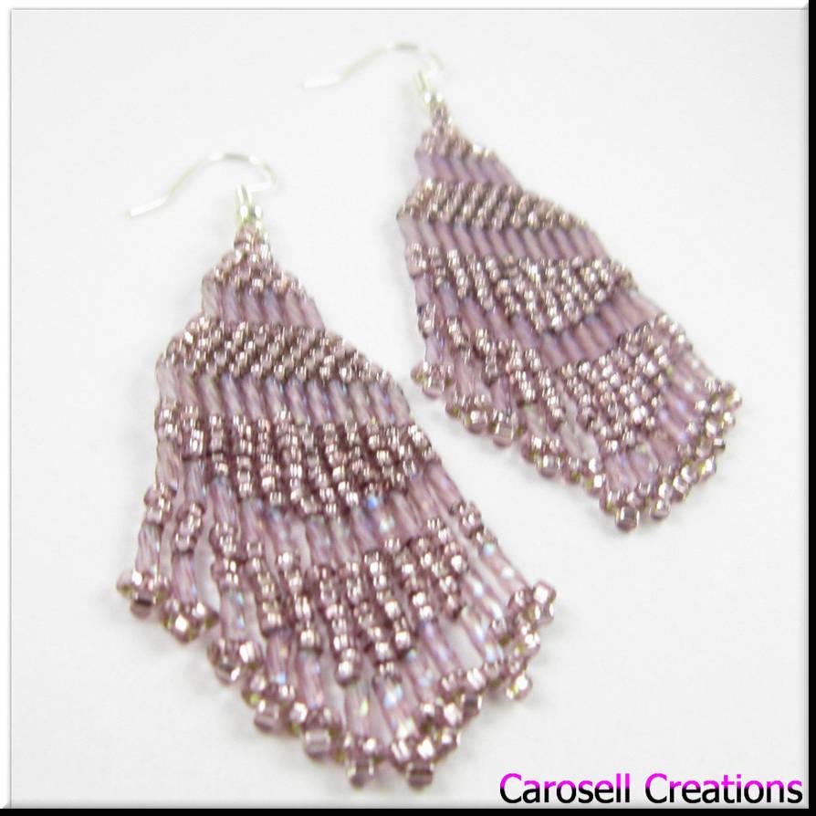ecfbbd2a9 Native American Style Purple Seed Bead Earrings by carosellcreations ...