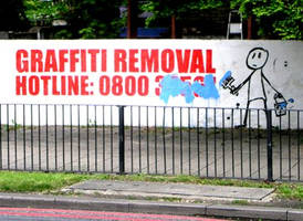 Banksy Graffiti Removal 2 by fotomad