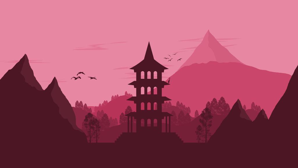 Landscape 12 japanese pagoda by ncoll36 on deviantart for Minimal art landscape