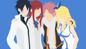 Erza + Gray + Lucy + Natsu (Fairy Tail)