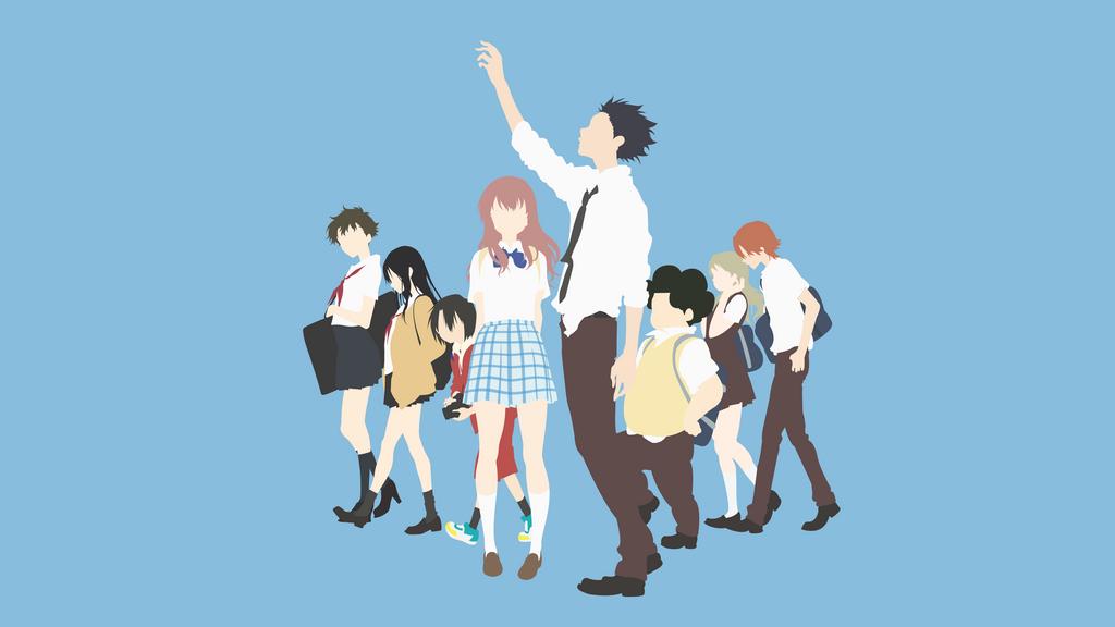 Koe no Katachi | Collab Wallpaper by ncoll36