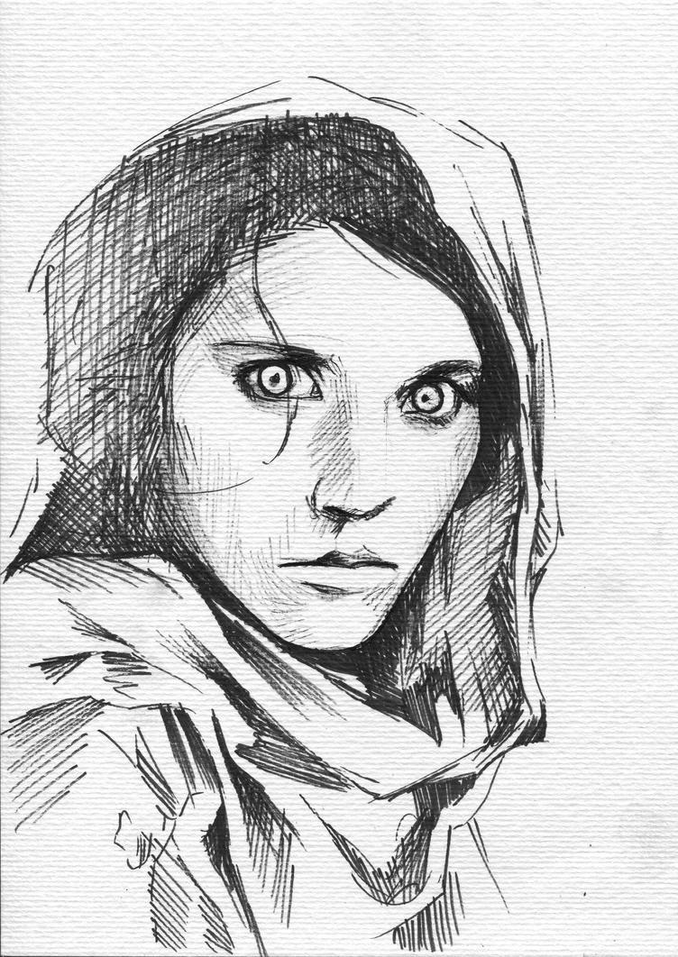 Green Eyes Girl by Dogviolet
