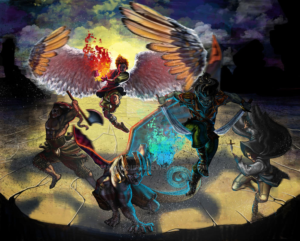 Waging War on Hell by Dogviolet