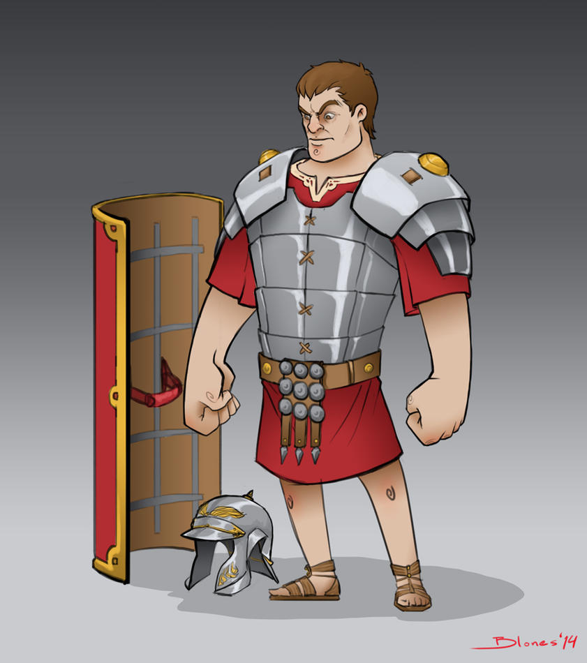 Roman Soldier - Cartoony style by ChuchuaN