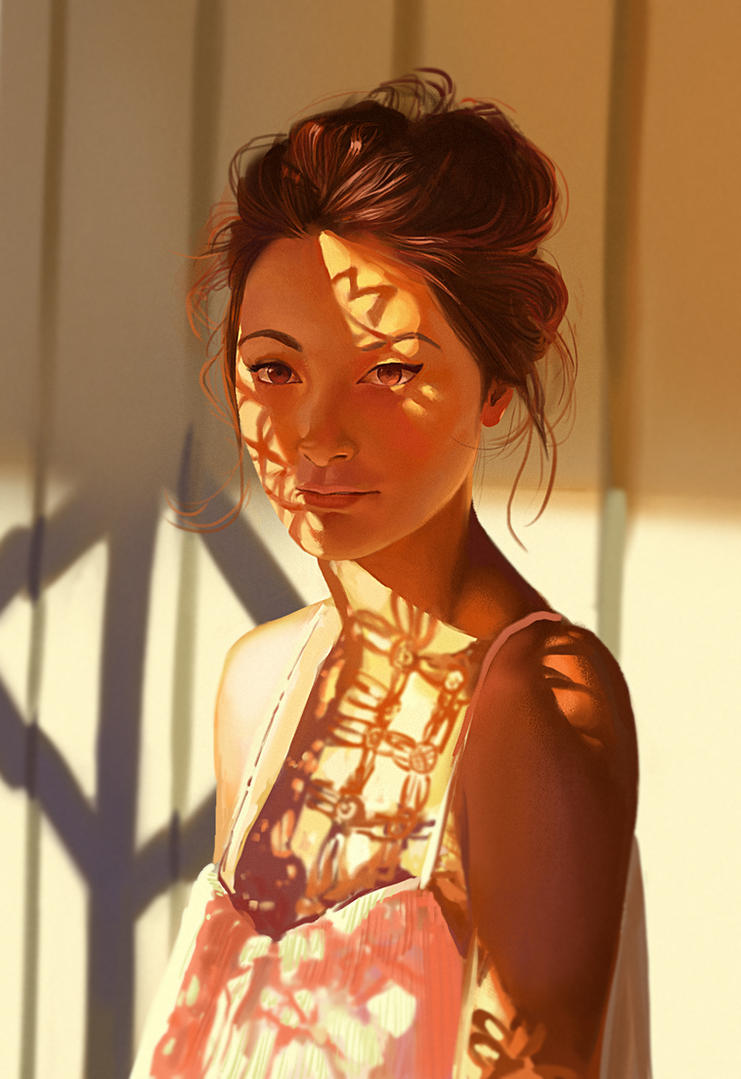 Girl under pattern - practice by ChuchuaN