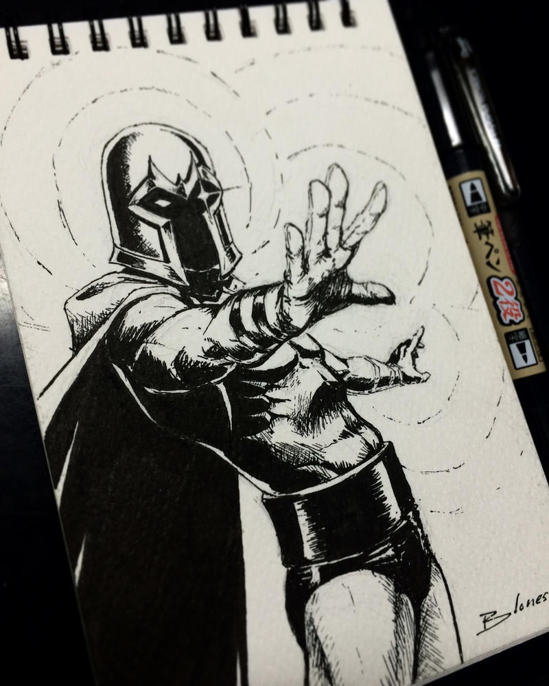 Magneto - INKtober by ChuchuaN