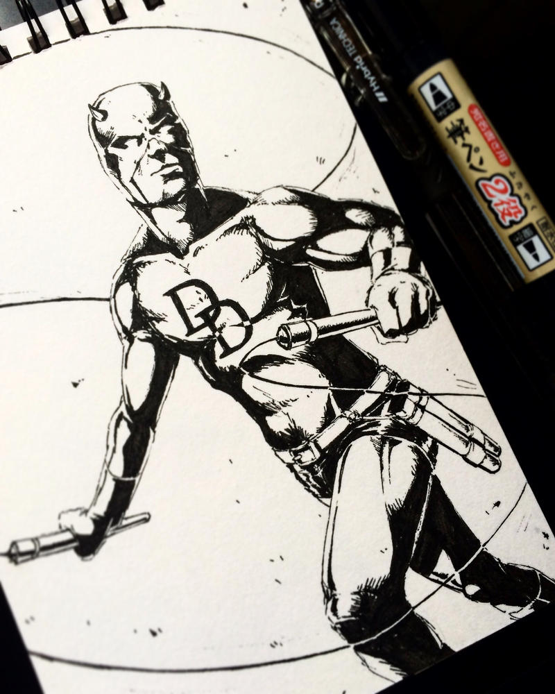 Daredevil - INKtober by ChuchuaN