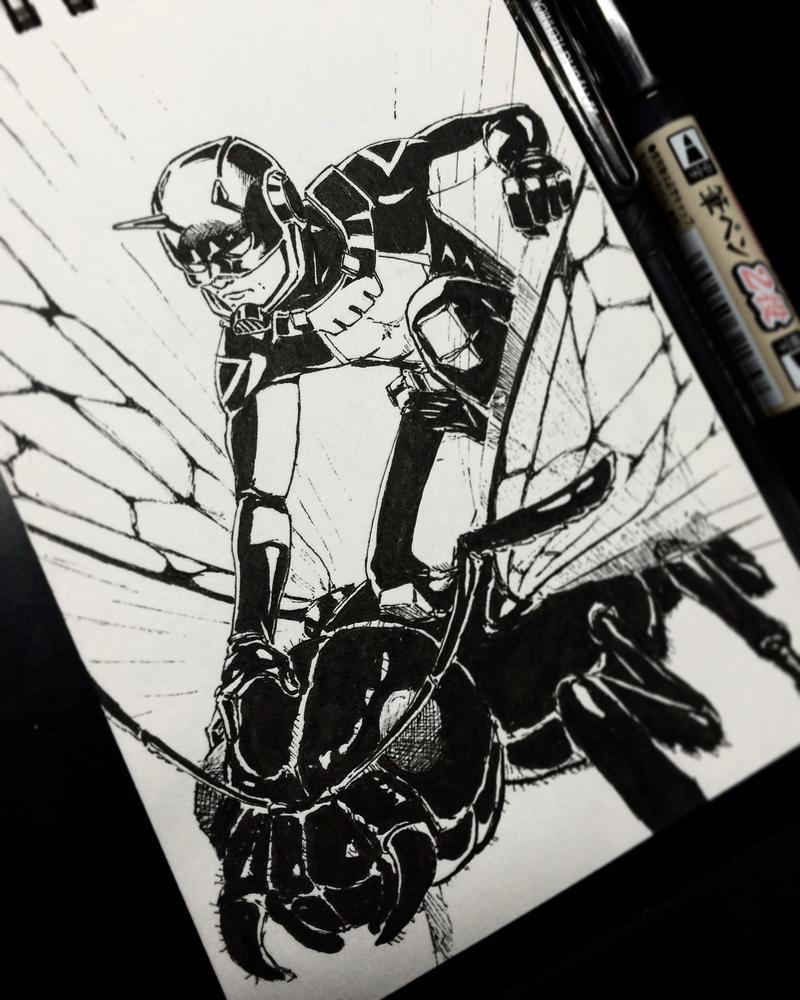 Ant-Man - INKtober by ChuchuaN