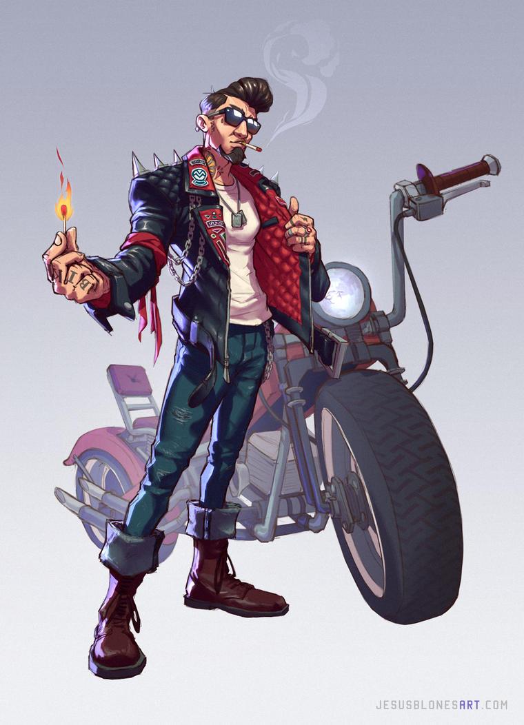 Biker - Character Design Challenge by ChuchuaN