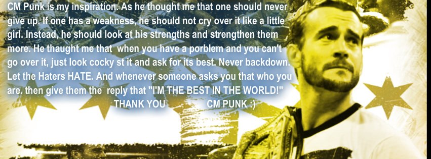Cm punk is my inspiration by masroorwcw on deviantart cm punk is my inspiration by masroorwcw voltagebd Image collections