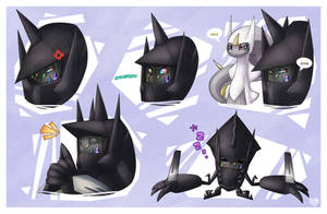 Necrozma Doodles by SpinoOne