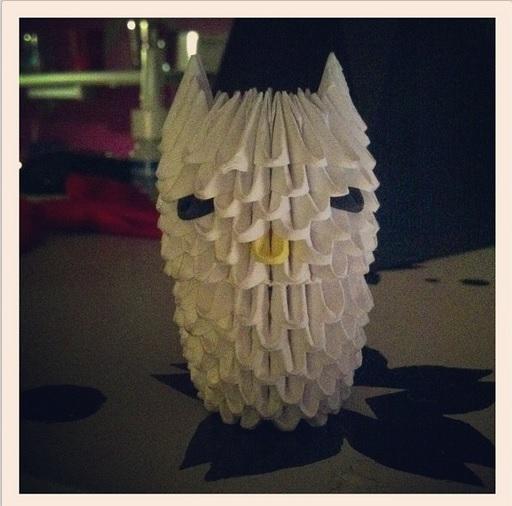 3D Origami: White Baby Owl by StaticCatnip