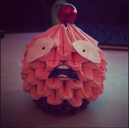 3D Origami Lulu Cupcake League Of Legends By Inyeon