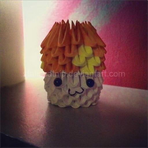 3D Origami Orange Mushroom MapleStory By Inyeon