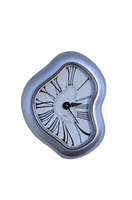 Warped Silver Clock-  PNG File by annamae22