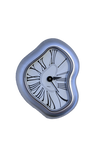 Warped Silver Clock-  PNG File