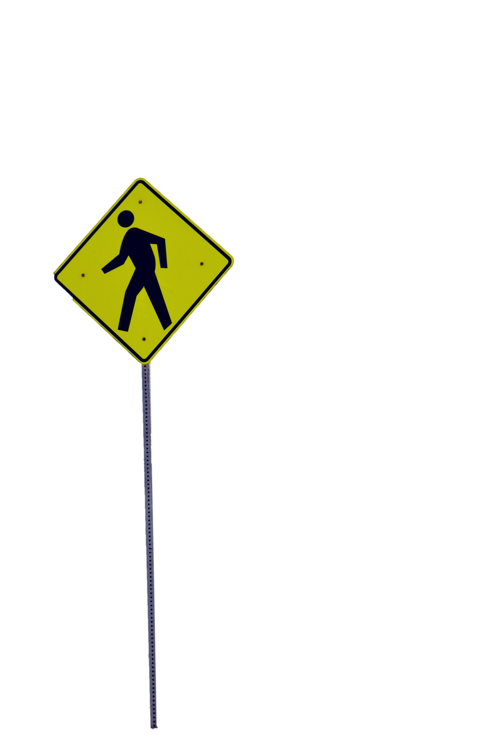 A Yellow Man Walking Sign Stock Photo PNG by annamae22