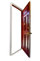 Red Door Stock Photo Opening Empty PNG by annamae22