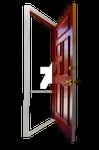 Red Door Stock Photo Opening Empty PNG