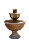 Water Fountain Stock Photo With Droplets-PNG