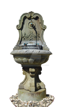 Stone Fountain Stock Photo 0104 - PNG