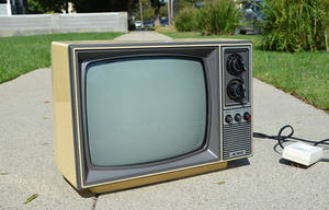Old TV Stock Photo Side View 2 DSC 0011 by annamae22