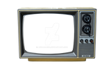 Old TV Stock Photo DSC 0010 - PNG