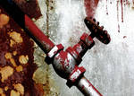 Rusted Plumbing Handle Stock Photo DSC 0213