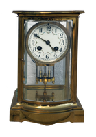 Antique TableTop Brass Clock Stock Photo 0124 PNG by annamae22