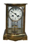 Antique TableTop Brass Clock Stock Photo 0124 PNG
