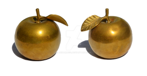 Golden Apple Stock Photo DSC 0021 PNG Collection