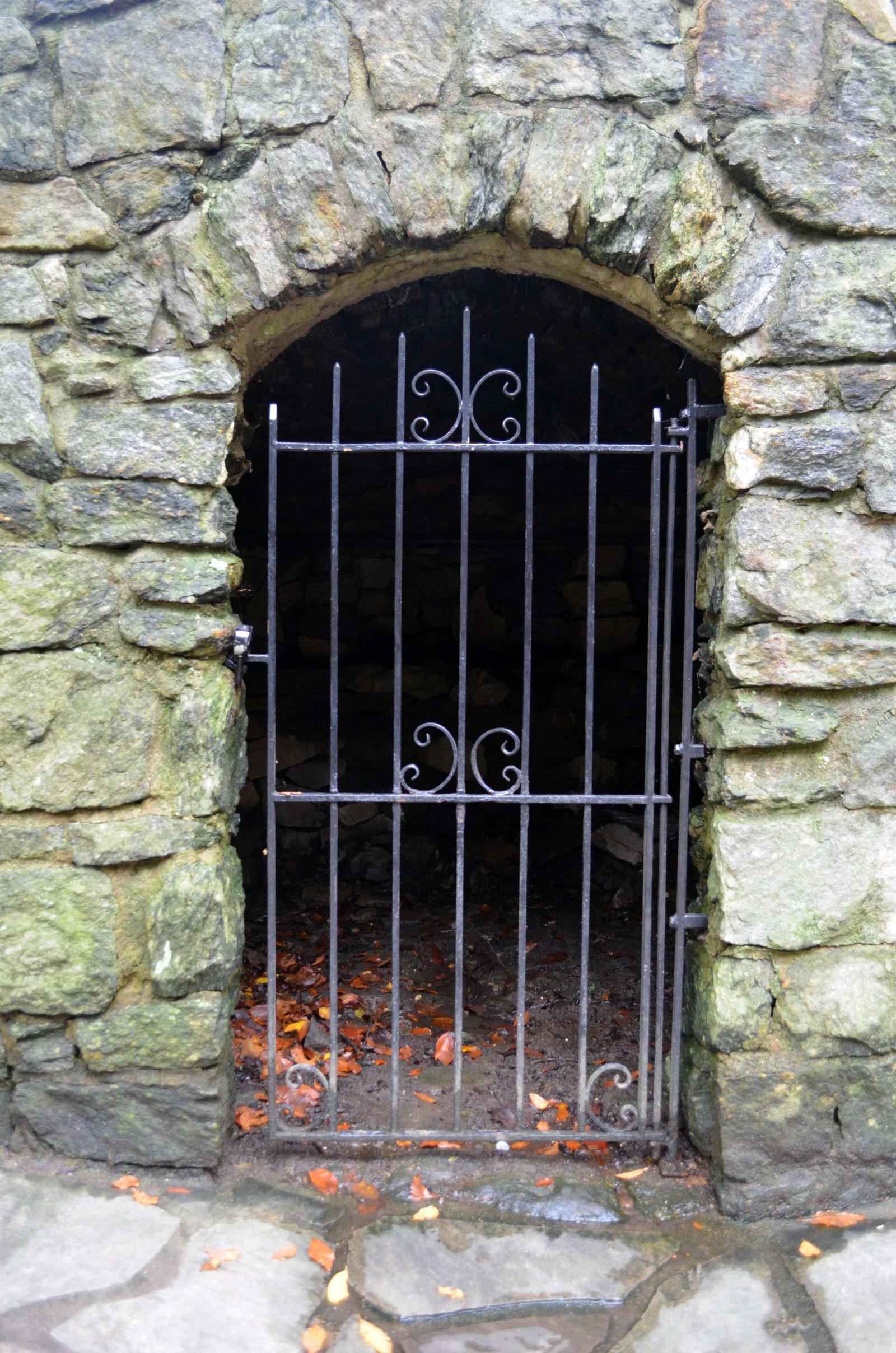 Stone Metal Gate Stock Photo  DSC_0109