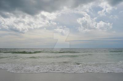 Sunset Stormy Beach Stock Photo Orig DSC 0609