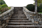 Stone Staircase at Park PNG Background Stock Photo