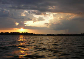 Sunset Storm Over Lake Stock Photo By Annamae22-d7
