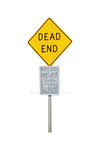 DEAD END DO NOT BlOCK Street Sign Stock  0334 PNG