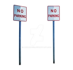No Parking Street Signs Stock Photo DSC 0082 PNG