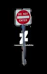 DO NOT ENTER Street Sign Stock DSC 0105 PNG