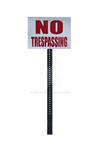 NO TRESPASSING PNG  Street Sign Stock Photo 0137