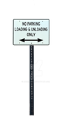 No PARKING Loading and Unloading PNG Street Sign S